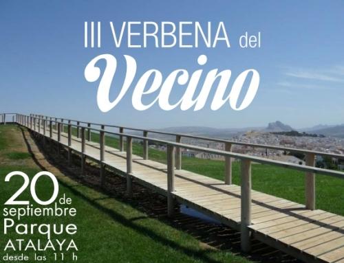 Invitación a III Verbena del Vecino (servicio de autobús gratuito)